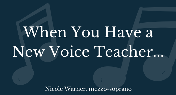 new voice teacher