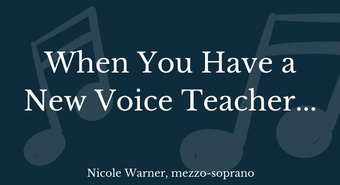 new voice teacher