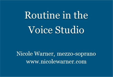 Routine in the Voice Studio blue